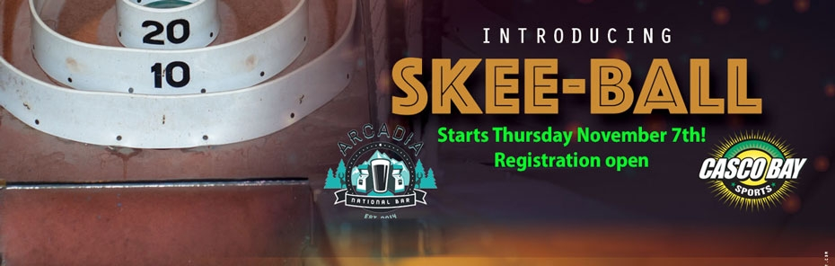 Thursday SKEEBALL comes to Arcadia National Bar:  Get your team into Portland's newest league!